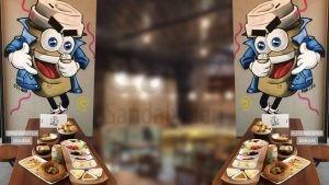 Ahsap Tablali Ozel Cafe Masasi
