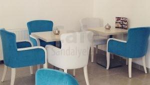 Turkuaz Mavisi Cafe Sandalyesi