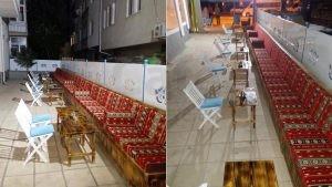 40 Yil Kahve Mavi Beyaz Modern Koltuk Kare Masa Katlanir Sandalye Sedir