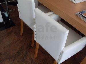 Beyaz Kollu Cafe Sandalyesi