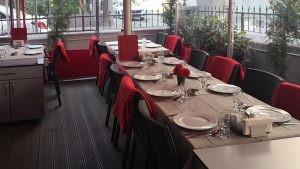 Kilis Zade Restoran Dekorasyon Siyah Rattan Sandalye Dikdortgen Restoran Masasi
