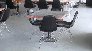 Metal Ayakli Sandalye Dikdortgen Verzalit Sandalye