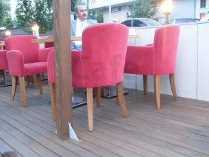 Kirmizi Cafe Sandalyesi