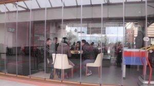 Olbia Cafe Ahsap Ayakli Poliuretan Sandalye