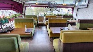 Tiryaki Cafe Ozel Yapim Kirmizi Suni Deri Kapli Sedir