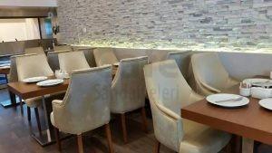 Mangal Azerbaycan Poliuretan Sandalye Dikdortgen Cafe Sandalyesi