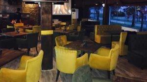 Effendi Cafe Sari Kopitoneli Poliuretan Sandalye