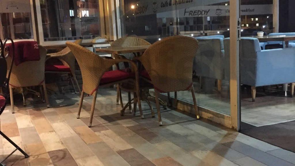 Freddy Cafe Minderli Rattan Sandalye