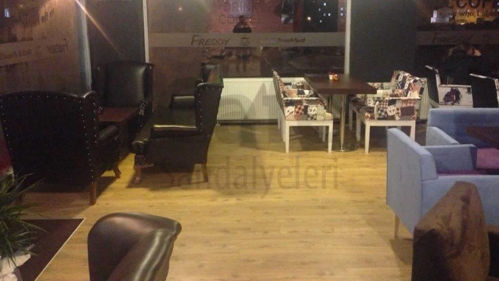 Ozel Yapim Deri Kaplama Cafe Sandalyesi